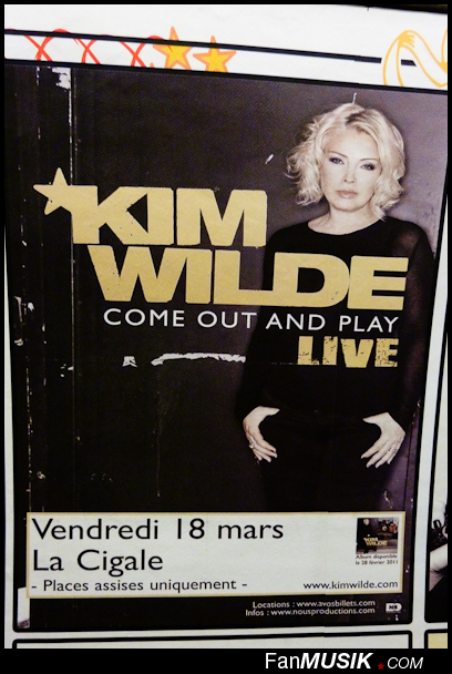 Kim Wilde, 18 mars 2011 - La Cigale, Paris (report' live/photos) - FanMusik