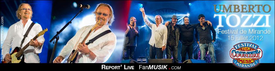 Report'Live / Photos - Umberto Tozzi - 15 juillet 2012 - Festival de Mirande