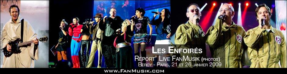 Les Enfoirés font leur Cinéma - 21 & 26 janvier 2009 - Palais omnisports de Paris-Bercy