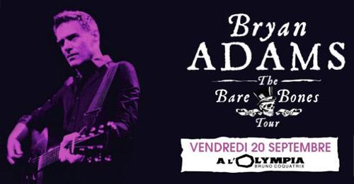 Bryan Adams le 20 septembre 2013 à l'Olympia (Paris)