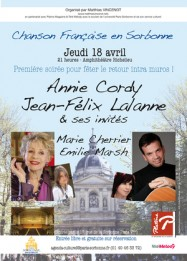 Chanson en Sorbonne - La Sorbonne (Paris) 18 avril 2013