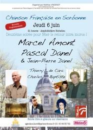 Chanson française en Sorbonne le 6 juin 2013 avec Marcel Amont, Pascal Danel...