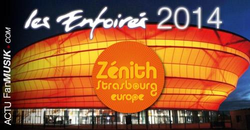 Les Enfoirés se produiront du 15 au 20 janvier 2014 au Zénith de Strasbourg !