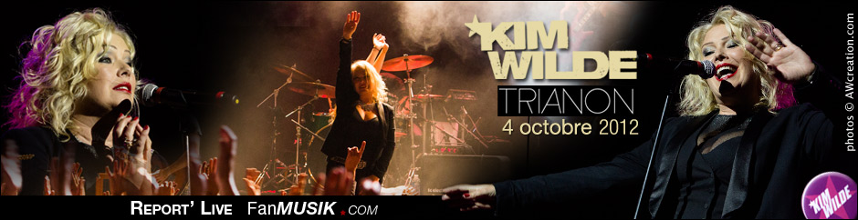 Report' Live Kim Wilde - 4 octobre 2012 - Trianon, Paris