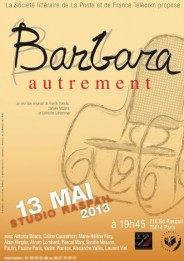 Barbara Autrement - 13 mai 2013 - Studio Raspail, Paris