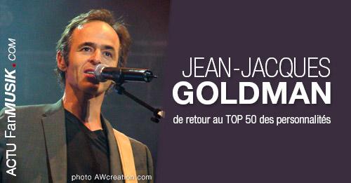Jean-Jacques Goldman de retour au TOP 50 des personnalités !