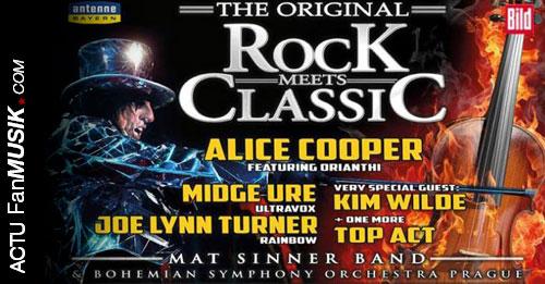 Rock meets Classic avec Alice Cooper et Kim Wilde, places en vente dès le 8 août 2013 !