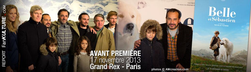 Avant Première Belle et Sébastien, 17 novembre 2013 au Grand Rex - Paris