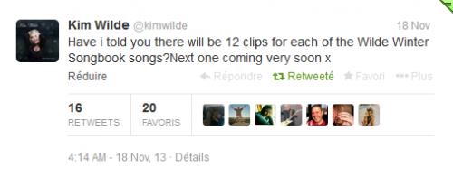 Kim Wilde, un nouveau clip pour chaque titre de son album Wilde Winter Songboo