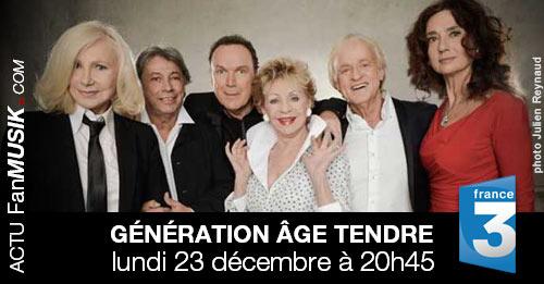 Génération Âge Tendre lundi 23 décembre sur France 3 !