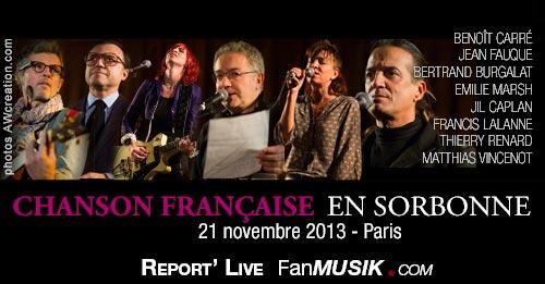 Chanson en Sorbonne – 21 novembre 2013 – La Sorbonne, Pari