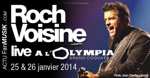Roch Voisine les 25 & 26 janvier 2014 à l'Olympia
