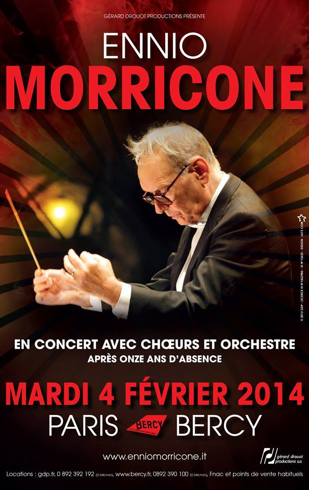 Ennio Morricone le 4 février 2014 à Bercy !