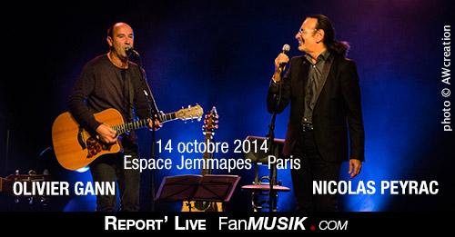 Nicolas Peyrac / Olivier Gann - 14 octobre 2014 - Espace Jemmapes, Paris