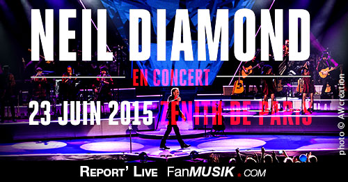 Neil Diamond, 23 juin 2015, Zénith - Paris