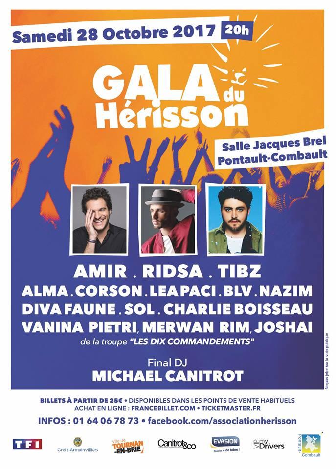Gala du Hérisson, samedi 28 octobre 2017 à Pontault-Combault