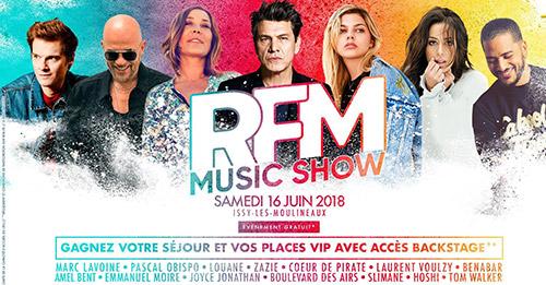 RFM Music Show le 16 juin à Issy-les-Moulineaux !