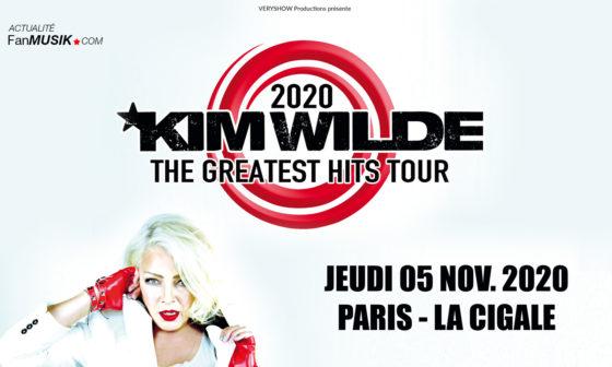 Kim Wilde le 5 novembre 2020 à La Cigale à Paris !