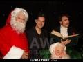 Yoann Fréget et le Père Noël au Musée Grévin
