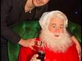 Yoann Fréget et le Père Noël Coca-Cola au Musée Grévin