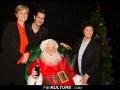 Véronique Bourez, Yoann Fréget, Dominique Bayle et le Père Noël au Musée Grévin