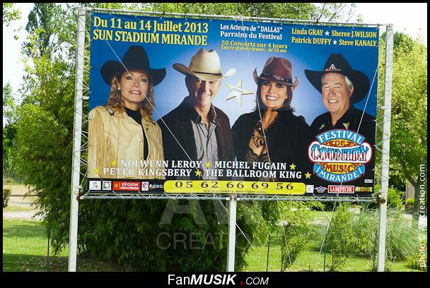 Affiche promo Festival de Country Music Mirande avec acteurs de Dallas