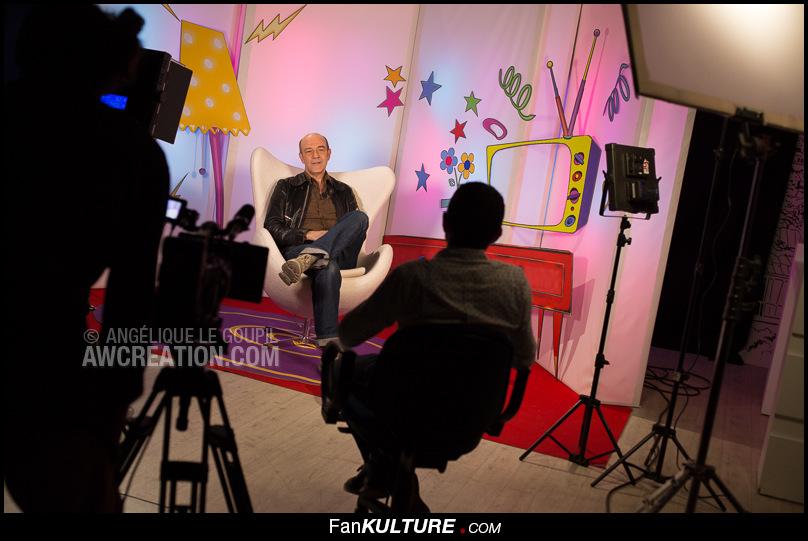 Lors de l\'interview d\'Alain Chaufour