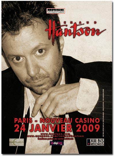 Renaud Hantson - 24 janvier 2009 - Nouveau Casino, Paris