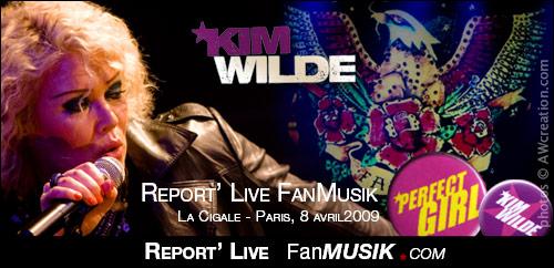 Kim Wilde – 8 avril 2009 – La Cigale, Paris