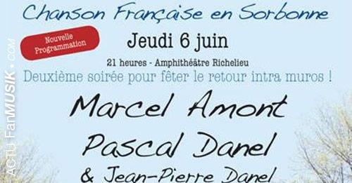 Chanson française en Sorbonne le 6 juin 2013 avec Marcel Amon, Pascal Danel...