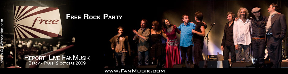 Free Rock Party, les 10 ans de Free - 2 octobre 2009 - Palais Omnisports de Paris-Bercy