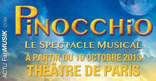 Pinocchio, le Spectacle Musical dès le 19 octobre 2013 au Théâtre de Paris !