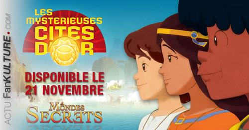 """Le 1er jeu d'aventure officiel des """"Mystérieuses Cités d'Or"""" sort le 21 novembre 2013 !"""