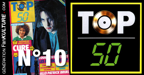 TOP 50 n°10 - 12 mai 1986 - Cure, Bowie, EJan-Jacques Goldman, Sabine Paturel