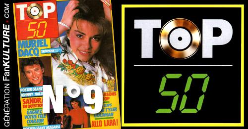 TOP 50 n°9 - 5 mai 1986 - Muriel Dacq, Sandra, Sabine Paturel, Stéphanie, Catherine Lara