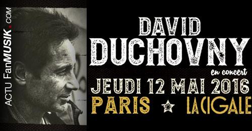 David Duchovny en concert le 12 mai 2016 à la Cigale (Paris)