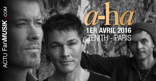 a-ha de retour à Paris le 1er avril 2016 au Zénith !