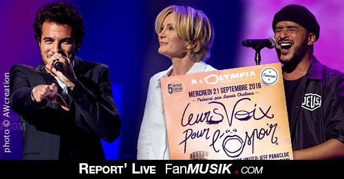 Leurs Voix pour l'Espoir, 21 septembre 2016, Olympia – Paris