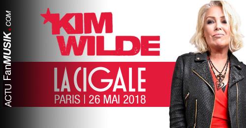 Kim Wilde en concert à La Cigale le 26 mai 2018 !